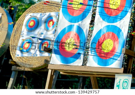 Targets - stock photo