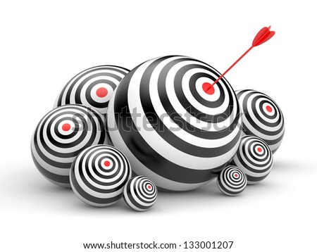 Targets with arrow - stock photo