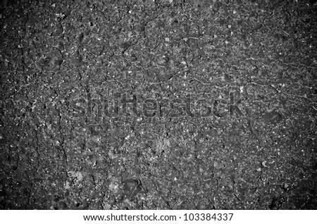 Tarmac surface in dark tone - stock photo