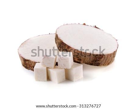 taro isolated on white background - stock photo
