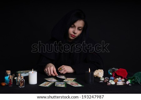 Tarot girl 1 - stock photo