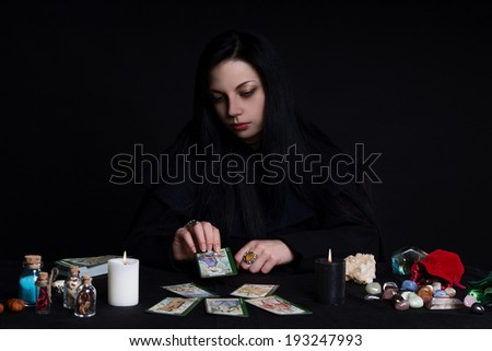 Tarot girl 2 - stock photo