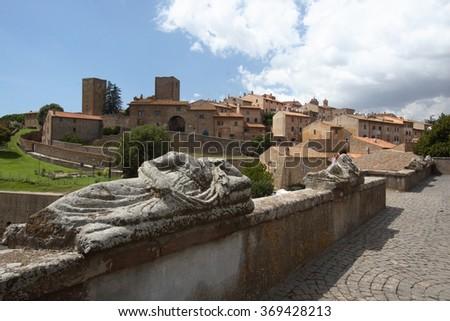 tarquinia Etruscan town historical center Italy - stock photo