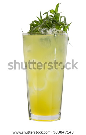 Tarragon drink isolated on white background - stock photo