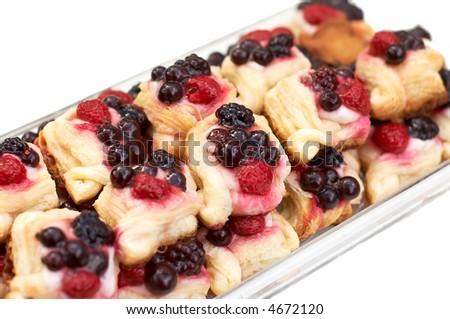 tart plate on white - stock photo