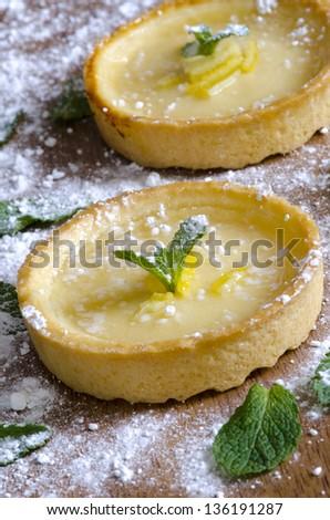 Tartes au citron - stock photo