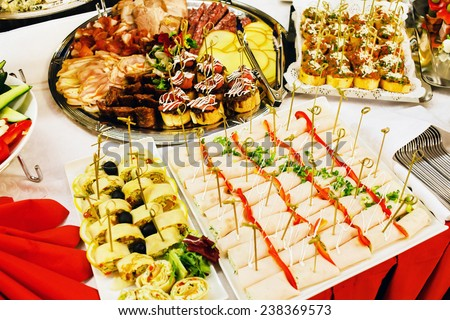 tasty appetizer - stock photo