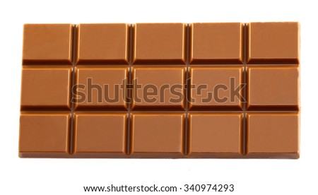 Tasty big bar of chocolate photographed close up - stock photo
