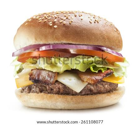 Tasty burger  - stock photo