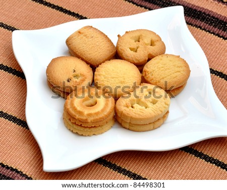 Tasty Butter Cookies - stock photo