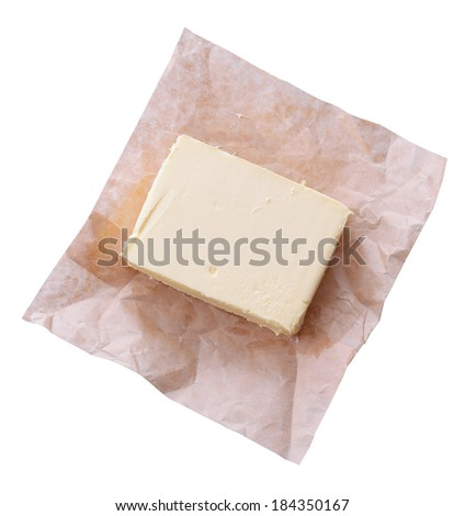 Tasty butter isolated on white  - stock photo