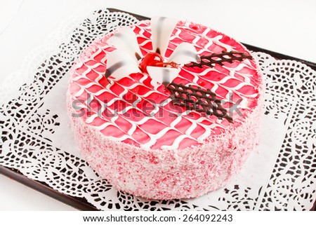 tasty cake - stock photo