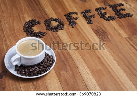 tasty coffee - stock photo