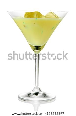 Tasty creamy liquor, isolated on white - stock photo