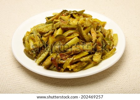 Tasty dish with Ivy gourd or Coccina Grandis. - stock photo