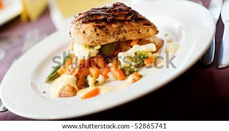 Tasty food on a table - stock photo