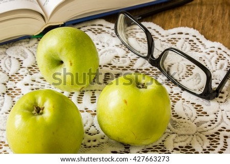 Tasty Green apple - stock photo