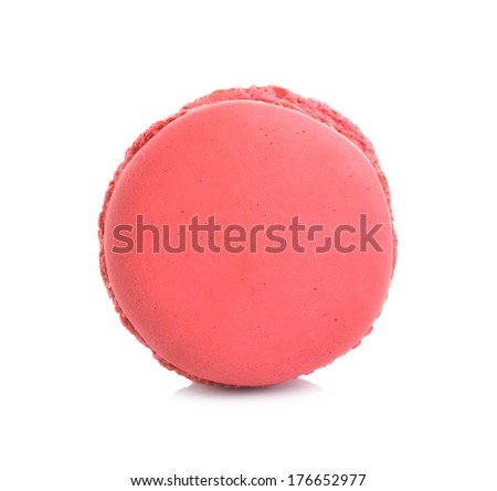 Tasty macaroon isolate on with background  - stock photo