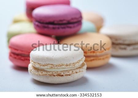 tasty macaroons - stock photo