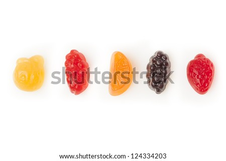 Tasty Organic Fruit Gummy Snacks for Kids - stock photo
