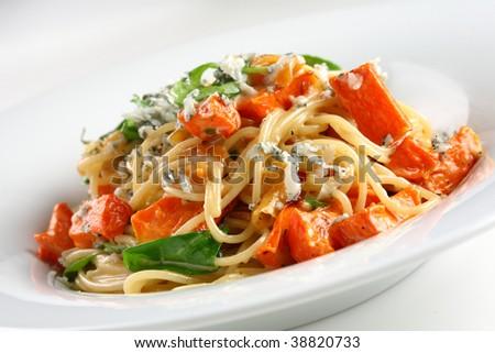 tasty pasta - stock photo