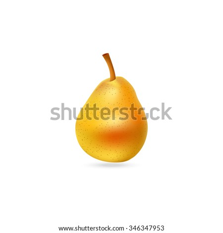 Tasty pear illustration. Fruit icon. - stock photo