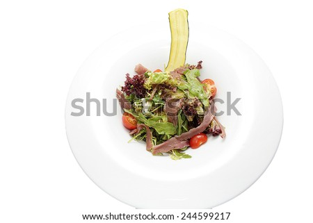 tasty salad - stock photo