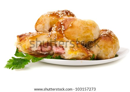 tasty snack isolated on a white background - stock photo