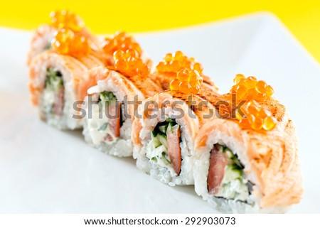 tasty sushi - stock photo