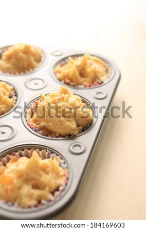 Tasty treats from the oven in baking pan. - stock photo