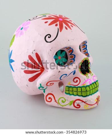 tattoo skull - stock photo