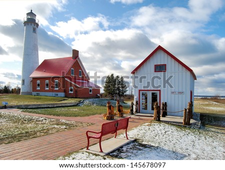 Tawas Point Lighthouse in Michigan / Tawas Point - stock photo