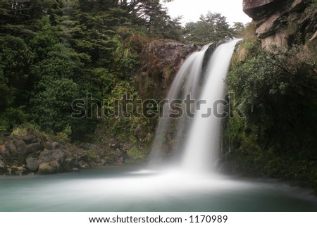 Tawhai falls pool - stock photo