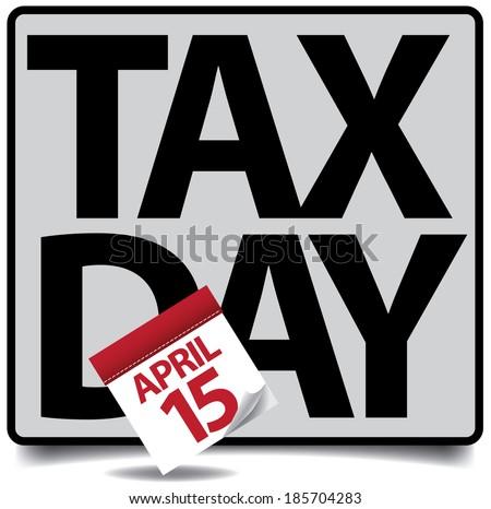 Tax day icon - stock photo