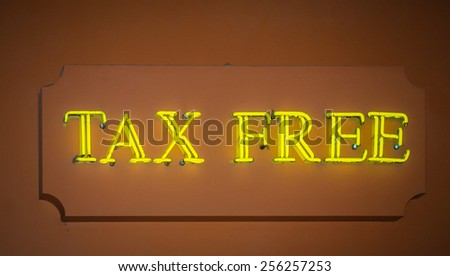 Tax free sign - stock photo