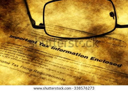 Tax information letter grunge concept - stock photo