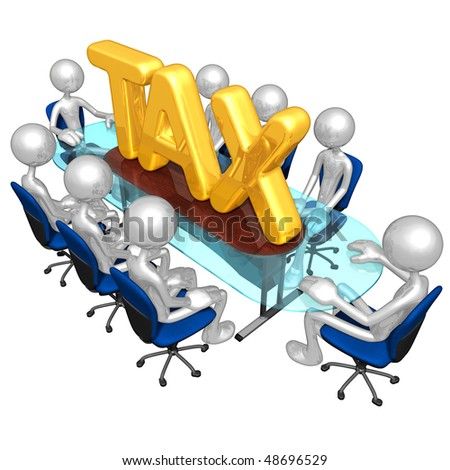 Tax Meeting Concept - stock photo