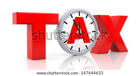 Tax metaphor - stock photo