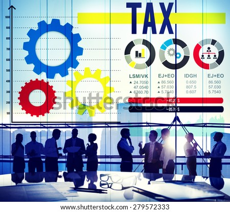 Tax Taxation Legal Audit Financial Economy Concept - stock photo