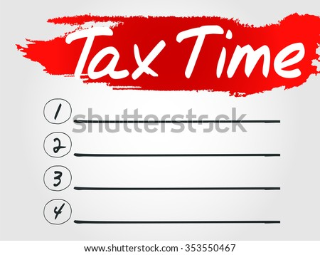 Tax Time Blank List concept background - stock photo