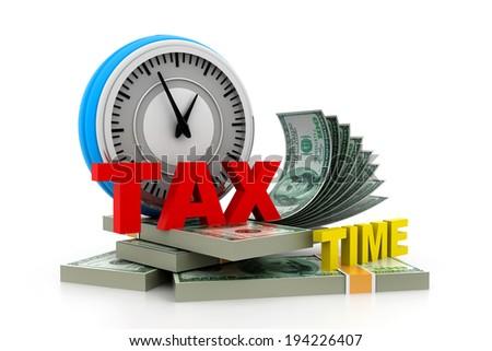 Tax time money - stock photo