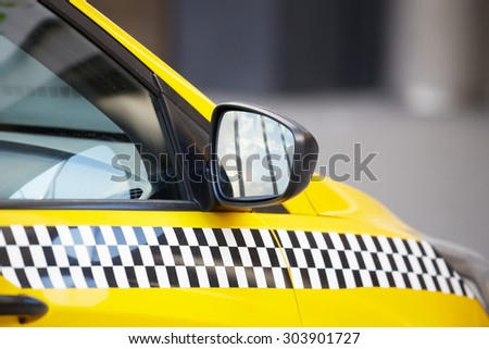 Taxi car on the street - stock photo
