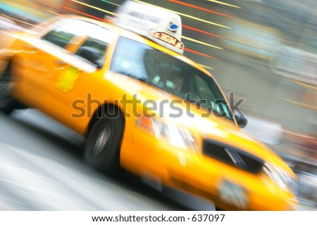 Taxi in New York - stock photo