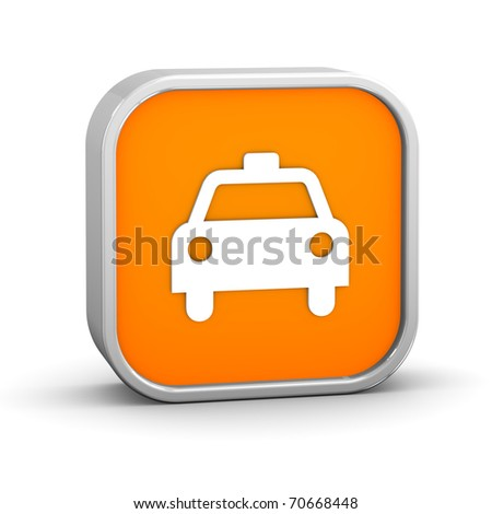 Taxi sign on a white background. - stock photo