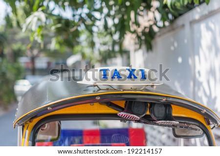 taxi sign, Thailand - stock photo