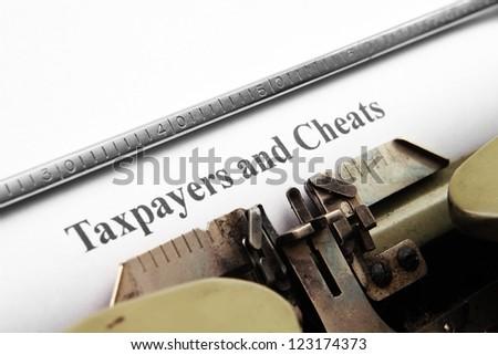 Taxpayers and cheats - stock photo