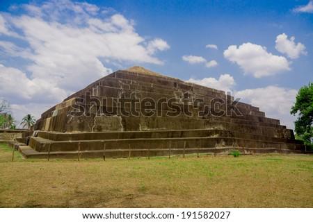 Tazumal mayan ruins in El Salvador- Santa Ana - stock photo