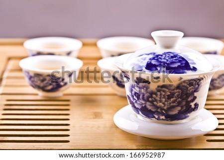 tea,asian tea set  - stock photo