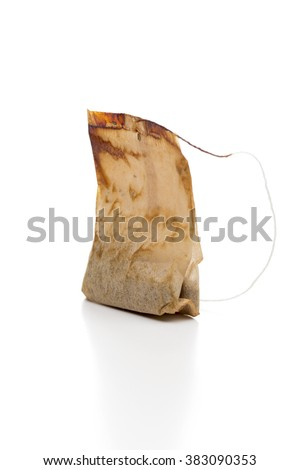 tea bag on the white background - stock photo