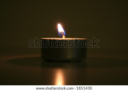 Tea Candle - stock photo